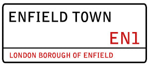 Enfield car key sign