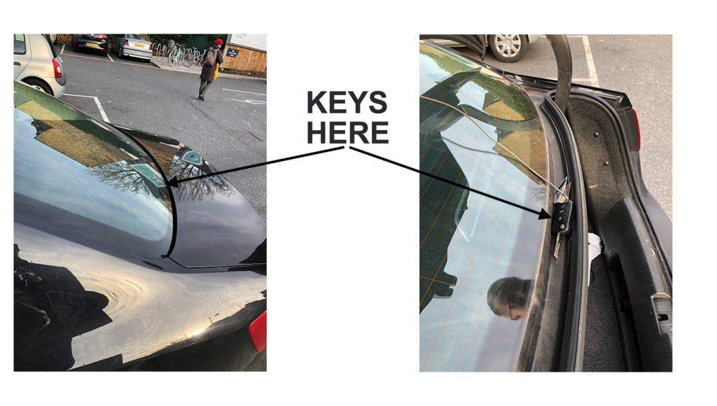 Open VW boot with keys locked inside
